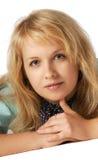 γκρίζα γυναίκα ματιών Στοκ φωτογραφία με δικαίωμα ελεύθερης χρήσης
