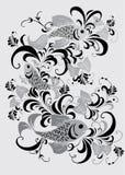 γκρίζα διακόσμηση ψαριών απεικόνιση αποθεμάτων