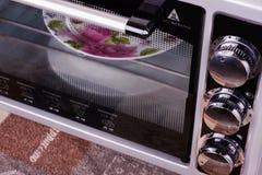 Γκρίζα ηλεκτρική σόμπα στην κουζίνα Στοκ εικόνες με δικαίωμα ελεύθερης χρήσης