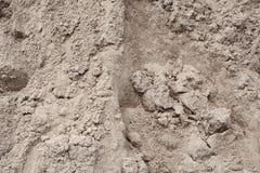Γκρίζα κινηματογράφηση σε πρώτο πλάνο άμμου οικοδόμησης Hill Στοκ Εικόνες