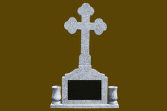 Γκρίζα μαρμάρινη ταφόπετρα Στοκ εικόνες με δικαίωμα ελεύθερης χρήσης