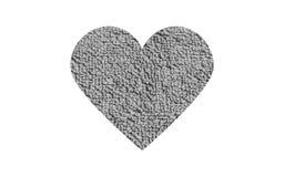 Γκρίζα μαλακή καρδιά Στοκ Φωτογραφία