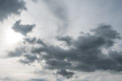 γκρίζα νεφελώδης σύσταση ουρανού Στοκ εικόνες με δικαίωμα ελεύθερης χρήσης