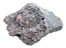Γκρίζα πορώδης πέτρα βασαλτών που απομονώνεται Στοκ εικόνες με δικαίωμα ελεύθερης χρήσης