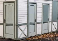 Γκρίζα πόρτα Στοκ Φωτογραφίες