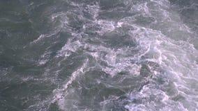 Γκρίζα ροή του νερού, περιβάλλον, φύση πόλεων απόθεμα βίντεο