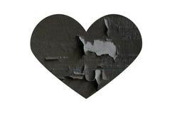 Γκρίζα σπασμένη καρδιά Στοκ εικόνες με δικαίωμα ελεύθερης χρήσης