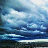 Γκρίζα σύννεφα ουρανού Στοκ Φωτογραφίες