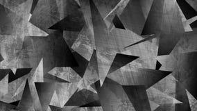 Γκρίζα τηλεοπτική ζωτικότητα τεχνολογίας grunge τρισδιάστατη polygonal ελεύθερη απεικόνιση δικαιώματος