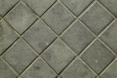 Γκρίζα τούβλα λιθόστρωτων πεζοδρομίων Στοκ εικόνα με δικαίωμα ελεύθερης χρήσης
