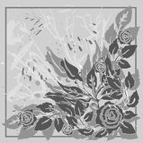 γκρίζα τριαντάφυλλα διανυσματική απεικόνιση