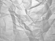 Γκρίζα τσαλακωμένη σύσταση εγγράφου έγγραφο ανασκόπησης που ζαρώνεται Στοκ Εικόνα