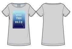 Γκρίζα τυπωμένη μπλούζα γυναικών ` s Στοκ εικόνα με δικαίωμα ελεύθερης χρήσης