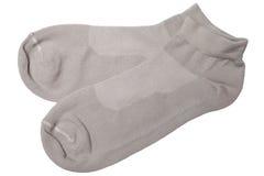 γκρίζες κάλτσες ζευγαριού Στοκ Εικόνες