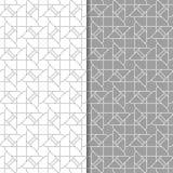 Γκρίζες και άσπρες γεωμετρικές διακοσμήσεις άνευ ραφής σύνολο προτύπων Στοκ Εικόνα