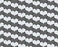 Γκρίζες και άσπρες καρδιές Στοκ εικόνα με δικαίωμα ελεύθερης χρήσης