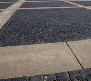 Γκρίζες πέτρες επίστρωσης πετρών Στοκ Φωτογραφίες