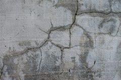 Γκρίζες ρωγμές τοίχων Υπόβαθρο Στοκ Φωτογραφίες