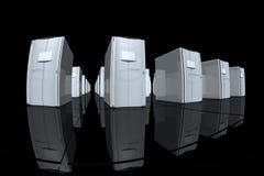 γκρίζοι κεντρικοί υπολογιστές Στοκ φωτογραφία με δικαίωμα ελεύθερης χρήσης
