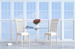Γκρίζος-άσπρο ντεκόρ καθιστικών σοφιτών με τον καναπέ Στοκ εικόνες με δικαίωμα ελεύθερης χρήσης