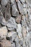 Γκρίζος και καφετής τοίχος πετρών ερειπίων, rubblework Στοκ Εικόνες