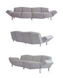 Γκρίζος καναπές σε όλες τις γωνίες στοκ εικόνα με δικαίωμα ελεύθερης χρήσης
