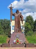 Γκρίζος-μαλλιαρό μνημείο Ural σε Yekaterinburg, Ρωσία Στοκ Εικόνες