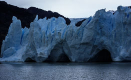 Γκρίζος παγετώνας, Torres del Paine, Παταγωνία, Χιλή Στοκ φωτογραφία με δικαίωμα ελεύθερης χρήσης