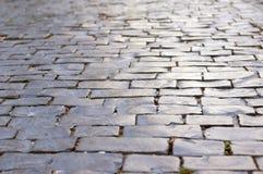 Γκρίζος δρόμος πετρών Στοκ Φωτογραφία