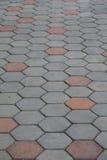 Γκρίζος δρόμος τούβλου Στοκ εικόνες με δικαίωμα ελεύθερης χρήσης