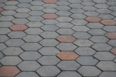 Γκρίζος δρόμος τούβλου Στοκ φωτογραφία με δικαίωμα ελεύθερης χρήσης