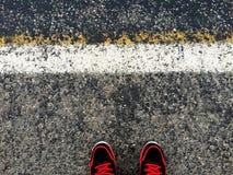 γκρίζος δρόμος χρώματος ανασκόπησης ασφάλτου Στοκ Εικόνες