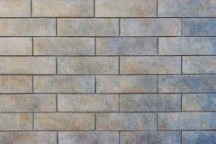 Γκρίζος τοίχος κεραμιδιών τούβλου Στοκ εικόνες με δικαίωμα ελεύθερης χρήσης