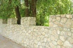γκρίζος τοίχος πετρών Στοκ Εικόνα