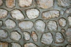 Γκρίζος τοίχος πετρών, grunge υπόβαθρο Στοκ φωτογραφία με δικαίωμα ελεύθερης χρήσης