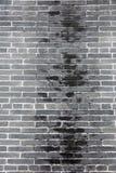 γκρίζος τοίχος τούβλου Στοκ Φωτογραφία