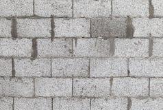Γκρίζος τοίχος φιαγμένος από αερισμένους τσιμεντένιους ογκόλιθους Στοκ εικόνα με δικαίωμα ελεύθερης χρήσης