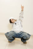 γκρίζος τοίχος χορευτών  Στοκ εικόνα με δικαίωμα ελεύθερης χρήσης