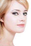 Γκρίζος-eyed ομορφιά Στοκ φωτογραφία με δικαίωμα ελεύθερης χρήσης