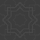 Γκρίζο άνευ ραφής σχέδιο arabesque Στοκ Εικόνα