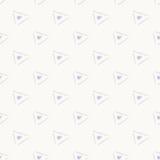Γκρίζο απλό άνευ ραφής αφηρημένο σχέδιο τριγώνων Στοκ φωτογραφίες με δικαίωμα ελεύθερης χρήσης