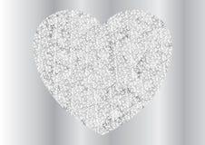 Γκρίζο ασημένιο σχέδιο καρδιών σπινθηρίσματος polygonal απεικόνιση αποθεμάτων