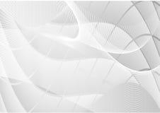 Γκρίζο αφηρημένο διάνυσμα υποβάθρου ευθειών γραμμών κυμάτων Στοκ εικόνες με δικαίωμα ελεύθερης χρήσης