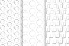 Γκρίζο γεωμετρικό άνευ ραφής σχέδιο απεικόνιση αποθεμάτων