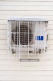 Παγάκια στο κλιματιστικό μηχάνημα. Στοκ Εικόνες