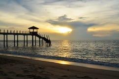 Γκρίζο ηλιοβασίλεμα στοκ φωτογραφία με δικαίωμα ελεύθερης χρήσης