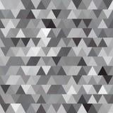 Γκρίζο διανυσματικό άνευ ραφής σχέδιο με τα τρίγωνα αφηρημένη ανασκόπηση Στοκ φωτογραφία με δικαίωμα ελεύθερης χρήσης