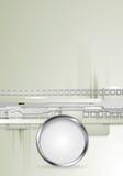 Γκρίζο διανυσματικό υπόβαθρο υψηλής τεχνολογίας με μεταλλικό Στοκ εικόνα με δικαίωμα ελεύθερης χρήσης