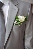 γκρίζο κοστούμι νεόνυμφω&n Στοκ εικόνες με δικαίωμα ελεύθερης χρήσης