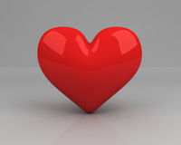 γκρίζο κόκκινο καρδιών ελεύθερη απεικόνιση δικαιώματος